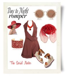 """""""Day to night romper contest"""" by theserialnester ❤ liked on Polyvore featuring House of Holland, John Galliano, STELLA McCARTNEY, Eric Javits, DayToNight and romper"""