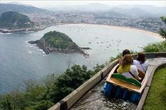 Monte Igueldo in San Sebastian Guipozcoa / A popular amusement park with great views. Can get busy Places To Travel, Places To See, Travel Destinations, Dream Vacations, Vacation Spots, San Sebastian Spain, Beach Vibes, Road Trip, Basque Country