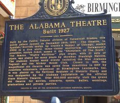 Happy Birthday to the beautiful Alabama Theater!The Alabama Theater opened on the night of Monday, December 26, 1927.   Alabama Pioneers