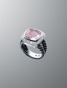 David Yurman- Rose Quartz New Albion Ring