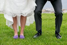 Bride In Purple Shoes