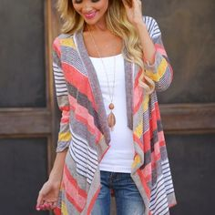 Adorable Striped Cardigan - 2 Colors!