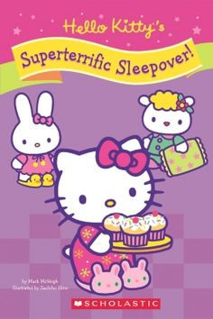 Hello Kitty and her friends are going to play lots of fun games and eat yummy pizza at their sleepover party. They even have a spooky mystery to solve when a tray of cupcakes disappears! Kids Chapter Books, Books For Beginning Readers, Toy Story Party, Toy Story Birthday, Hello Kitty Images, Mickey Mouse Parties, Minnie Mouse, Hello Kitty Wallpaper, Sleepover Party