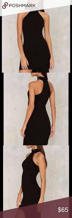 asymmetrical bodycon dress🎈 Stunning black bodycon dress! Asymmetrical style! Never worn but ordered online so no tags. Nasty Gal Dresses Asymmetrical