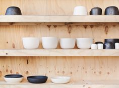 bruce rowe / anchor ceramics - studio My heart literally races at the thought of having shelves of clay!