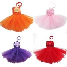Solid Color Baby infant tutu dress with a peony flower in front toddler's summe dress for 0-2years PRODUCT DETIAL : name:tutu dress Material:chiffon color:13colors as show below Size: one size, fit for 0-2 years baby. Feature:Ball Gown,nice look,cute Length 41 cm,bust 30-50cm IMPORTANT! If you are not satisfied with our goods,and have any problem before ...