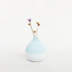 Mini Vase-Light Turquoise Vase With Lights, Light Turquoise, Hand Designs, Miniatures, Ceramics, Handmade, Gifts, Color, Ceramica