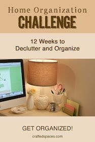 Crafted Spaces: Home Organization Challenge