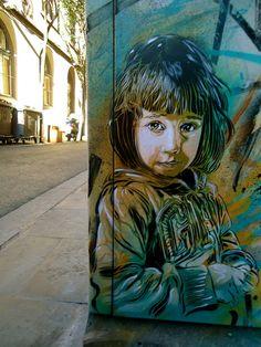 Street Art 360 / Artwork by in Barcelona Street Art Utopia, Street Art Banksy, Murals Street Art, Art Mural, Urban Street Art, 3d Street Art, Street Artists, Amazing Street Art, Amazing Art