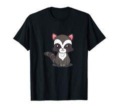 Amazon.com: Cute Baby Racoon Tshirt for Racoon Lover: Clothing   #cuteanimals  #cartoonart #kidsfashion #toddlerfashion #tshirt #racoon