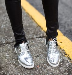 Cole Haan womens Lunargrand Wingtips In Silver