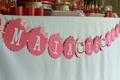 Banner at a Hello Kitty Party #hellokitty #party