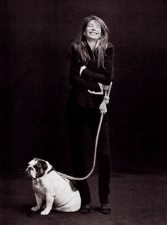 Jane Birkin and dog