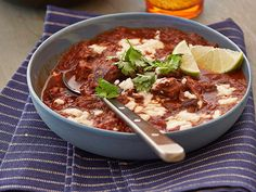 Tyler's Texas Chili Recipe : Tyler Florence : Food Network ** A must before winter is over ⛷ Texas Chili, Food Network Recipes, Food Processor Recipes, Cooking Recipes, Cooking 101, Korma, Biryani, Tex Mex, Quesadillas