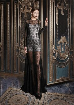 Sequin Body, Lace Dress