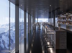 • DIS Project •  ℹ️ The highest spa in the world (2'390 masl) in 📍Disentis, Switzerland   ||   Interior concept for the bar Lugano, Landscape Planner, Architecture Design, Aperol, Commercial Complex, Interior Concept, Northern Italy, Working Area