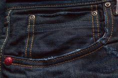 My new Red Seal selvedge denim Handcrafted by Replay Blue Jeans, Denim Jeans, Japanese Denim, Denim Trends, 2016 Trends, Raw Denim, Denim Fashion, Indigo, Style Me