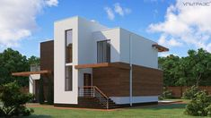 Строительство домов S21 в Екатеринбурге   Ультра Эс Small House Design, Modern House Design, Plans Architecture, Small Modern Home, Home Projects, Facade, Home Goods, House Plans, Villa