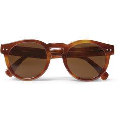 IllestevaLeonard Round-Frame Acetate Sunglasses