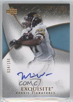 Mike Walker AU RC (Rookie Card) #24/150 Mike CFL Walker, Mike Sims-Walker (2007), Jacksonville Jaguars (Football Card) 2007 Exquisite Collection #95 by Exquisite Collection. $28.95. 2007 Exquisite Collection #95 - Mike Walker AU RC (Rookie Card)