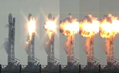 Falcon 9 explosion on the pad test, started in stage. Event Logistics, Spacex Falcon 9, Sept 1, Spaceship Design, Space Rocket, The Expendables, Astrophysics, Im Bored, Space Shuttle