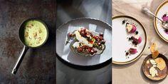 - Treretters meny - Grønnkålsuppe, Torsk og Solbærmousse,  rosettbakelse til desserten? Green Kale Soup, Cod with sauce ans Black Currant Mousse, a guest-  or weekend meny