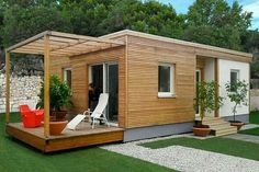 LIVING UNIT - Prefab house / modular / contemporary / solid wood by Riko Hiše Rest House, Tiny House Cabin, Tiny House Living, House In The Woods, Container House Design, Tiny House Design, Casas Containers, Bamboo House, Prefab Homes