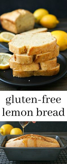 This gluten free lemon bread is bursting with delicious flavor. Try this easy recipe for a light, healthy snack. Recipe from realfoodrealdeals.com