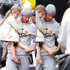David with son,Brooklyn and his adorable daughter,Harper for eating lunch out / #London  (June.23.2015) #davidbeckham #brooklynbeckham #harperbeckham  #ديويدبكهام همراه پسرش بروكلين و دختر زيبا و دوست داشتنى اش هارپر در بيرون براى صرف ناهار / لندن