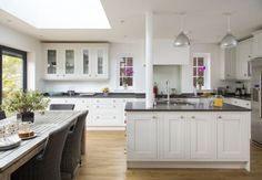 A series of small rooms were knocked through to create this spacious kitchen diner.