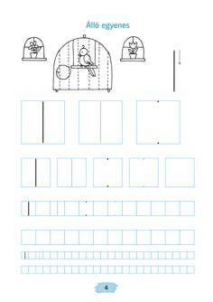 Mozaik e-tankönyv Tracing Worksheets, Preschool Worksheets, Pre Writing, Motor Skills, Fine Motor, Special Education, Mathematics, Activities For Kids, Kindergarten