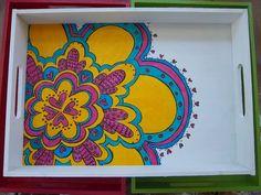Bandejas de desayuno!! Super coloridas, $120 en http://ofeliafeliz.com.ar