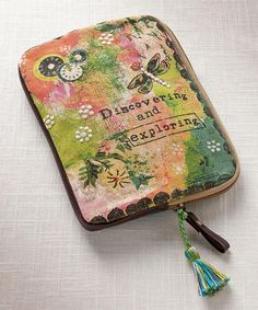 Look at this Green & Pink 'Discovering' Mini E-Reader Zip-Up Case on #zulily today!