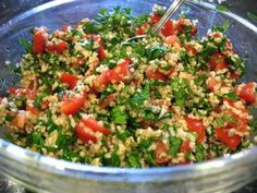 This is a quick and fresh dish that is good all year round. I love to serve it with pita chips.