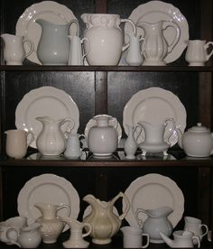 I have decided that i want to start collecting white pitchers - beautiful for the top of the kitchen cabinets