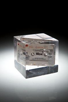 Artist: Zoltán Béla - Time Capsule 10 x 9 x 10 cm, self made tape in resin