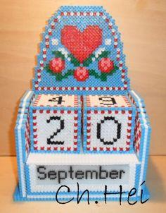 Calendario de hama beads en 3D