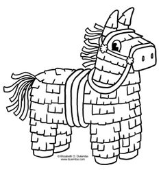 color this playful piñata in celebration of cinco de mayo free