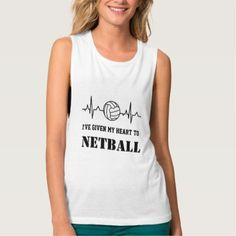 #Custom Heartbeat Theme Netball Quote Tank Top - customized designs custom gift ideas
