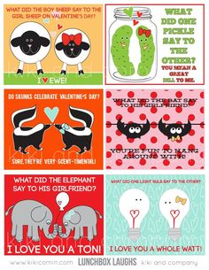 Valentines Day Cards : Cute Animals Edition | Craftzilla Conquers the World