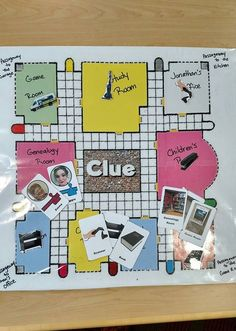 For this event, patrons could personalize Clue or Monopoly, or use a blank template to make their own rules.For an example, I made a library version of Clue wi Board Game Themes, Board Games For Kids, Games For Teens, Kids Party Games, Books For Teens, Diy Games, Kids Board, Blank Game Board, Clue Board Game