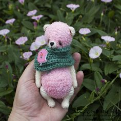 Роуз Вязаная мишка-тедди