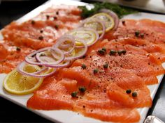 Breakfast Smoked Salmon Platter from Ina Garten via Food Network