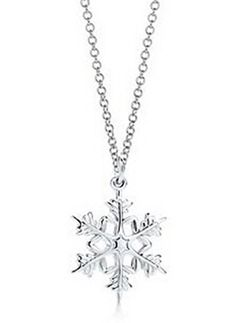 Tiffany  Co Attractive Snowflake Necklace