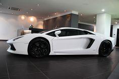 The Lamborghini Aventador. Via Ben_in_london. Wouldn't complain..