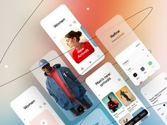 Ecommerce App, App Ui, Page Design, Web Design, Ladies Hooded Coats, Saint Charles, Mobile Design, Show And Tell, Mobile Application
