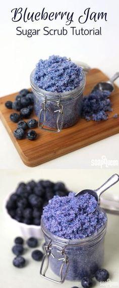 Blueberry Jam Sugar Scrub DIY
