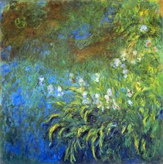 Iris at the Sea-Rose Pond, 1917, Claude Monet