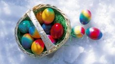 Easter Eggs In The Snow Wallpaper 1920x1080 - Cool PC Wallpapers
