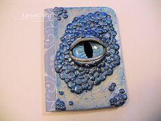 The Sea Dragon's Eye tiny polymer clay by LynzCraftz on Etsy
